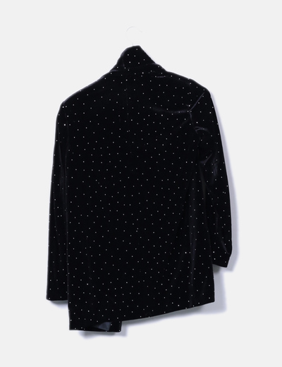 Blazer negra con strass