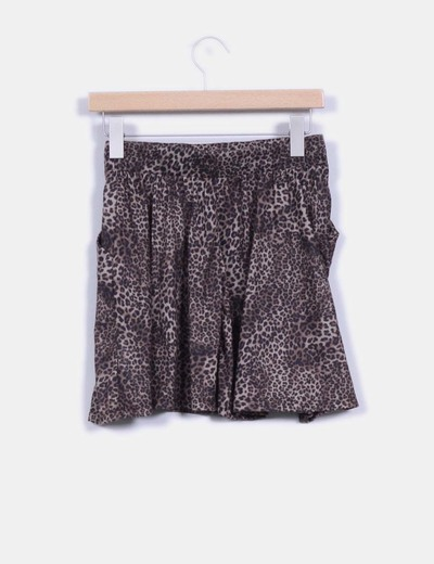 Mini falda estampado animal print