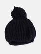 Chapeau noir avec pompon NoName