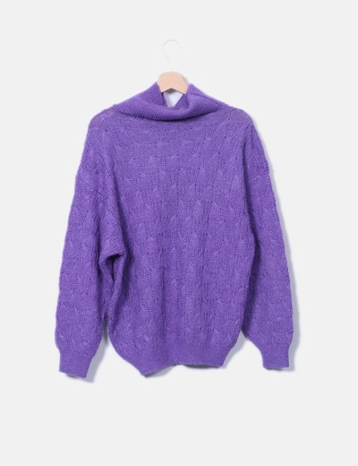 Pull lilas en maille cygne col NoName