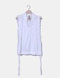 Blusa blanca drapeada Inside