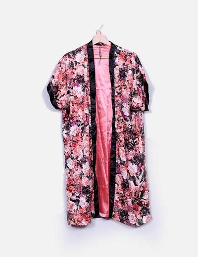 Kimono floral satén rosa Marc.M.Angelo