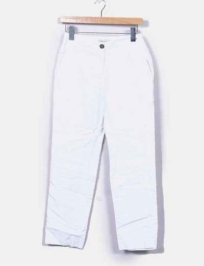 Calças brancas quebradas texturizadas Purificación García