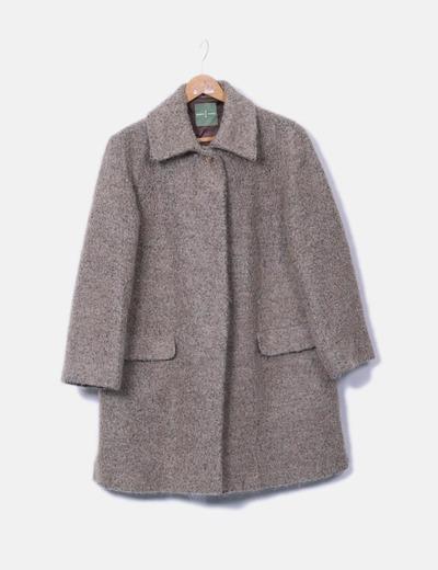 Abrigo largo marrón Roberto Verino