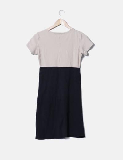 Vestido pichi bicolor