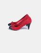 Chaussure à talon rouge à pointe noire Carolina Boix