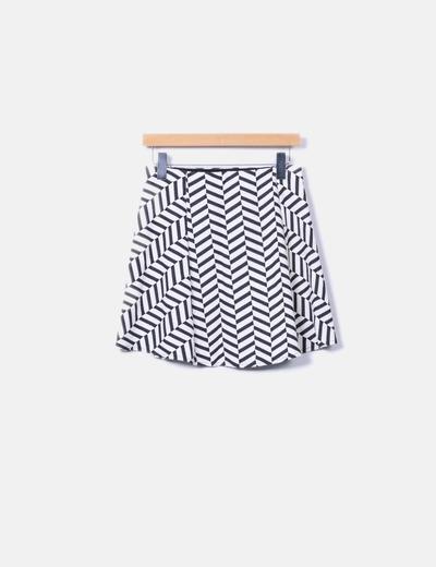 Minifalda texturizada Zara