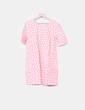 Vestido denim rosa claro print corazones Azura