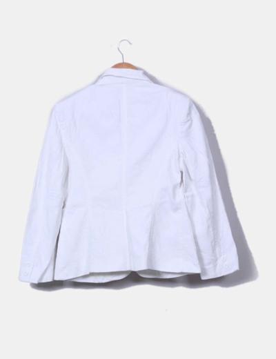 Blazer blanca texturizada
