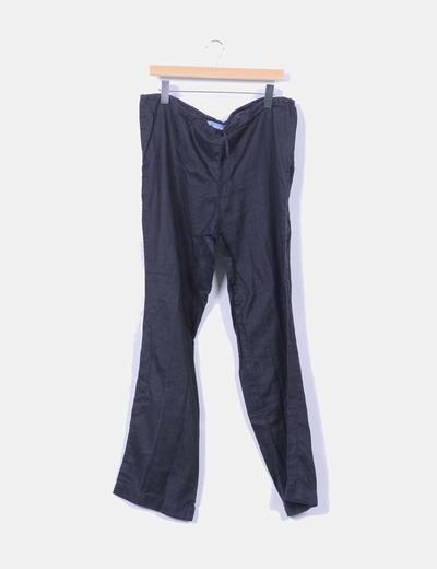 Pantalón de ramio Zara