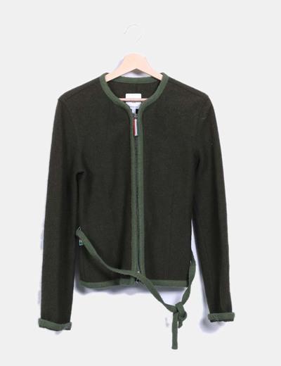 Chaqueta verde de lana Moschino