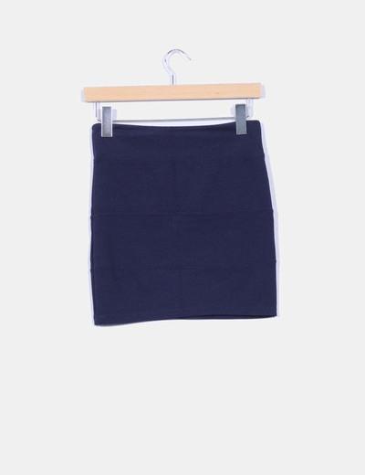 Mini falda navy ajustada
