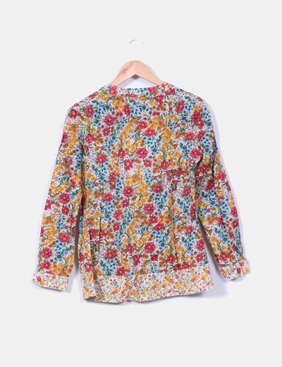 Blusa estampada floreada multicolor