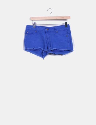 Shorts denim azul klein
