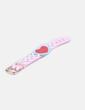 Pulsera de cuero rosa con corazon y perlas Bimba&Lola