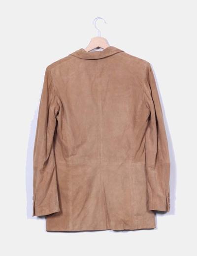 Blasier piel camel con bolsillos