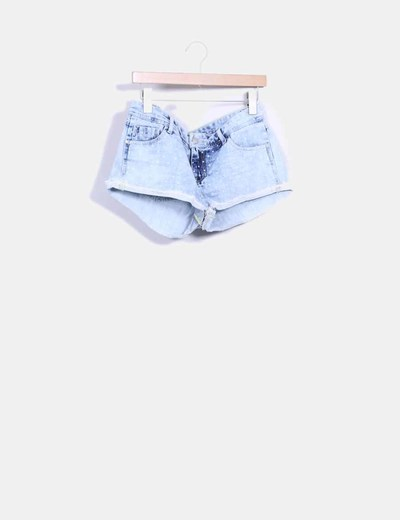 Short denim con topos