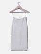 Falda de punto blanca H&M