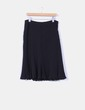 Falda midi negra Cortefiel