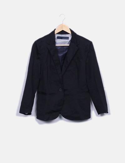Blazer negra básica Zara