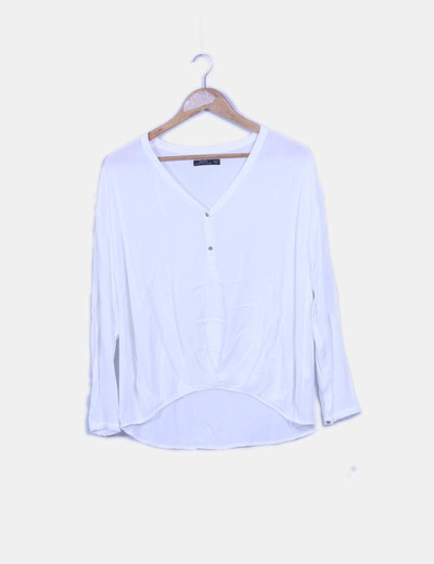 Blusa blanca oversize