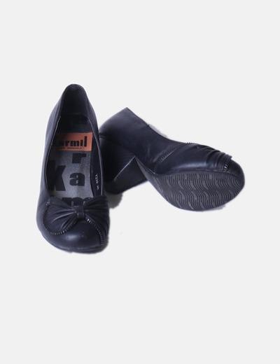 Zapato con lazo y tacon