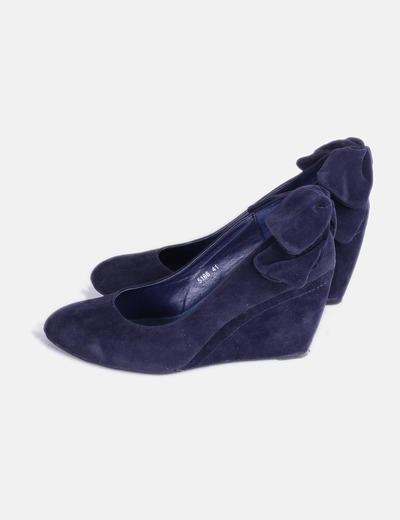 9f333d3b824 NoName Zapato cuña antelina azul marino (descuento 71%) - Micolet