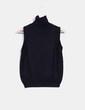 Top tricot negro de cuello alto Zara