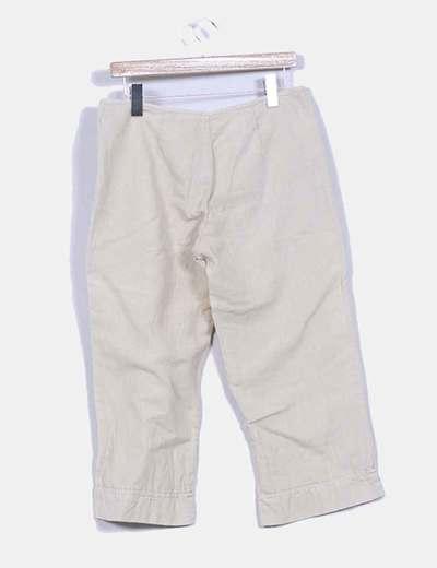 Pantalon recto tobillero lino