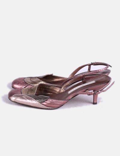 Zapato tacon combinado Pura López