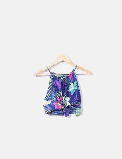 Conjunto de top y falda floral