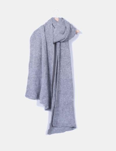 edb60011bef5c Zara Écharpe grise maxi en grosse maille (réduction 70%) - Micolet