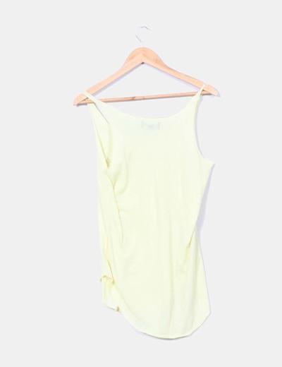 Camiseta amarillo print