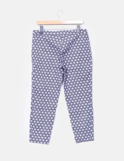 Pantalon chino estampado bicolor
