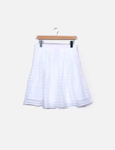 Falda de tul blanca rayas semitransparentes