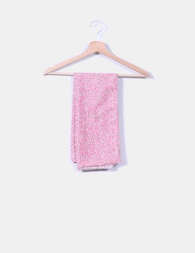 Foulard estampado rosa flúor NoName