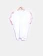 Blusa drapeada blanca print palmeras Zara