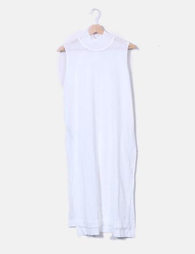 a7d271639 Mango Vestido punto blanco (descuento 76%) - Micolet