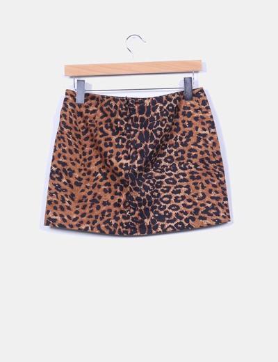 Mini falda animal print