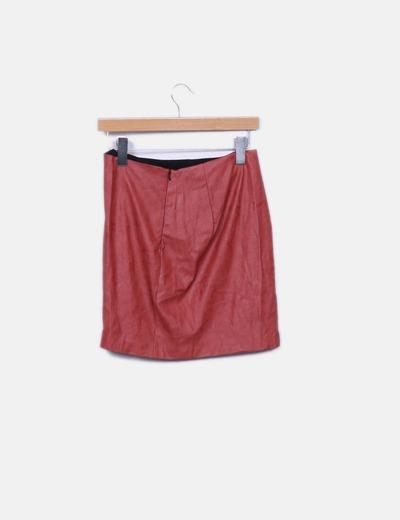 Mini falda polipiel elastico