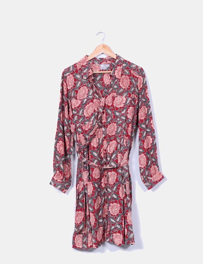 Vestido floral manga larga Asos