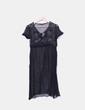 Vestido negro transparente bordado NoName