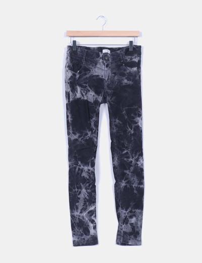 Pantalón negro efecto desgastado Pull&Bear