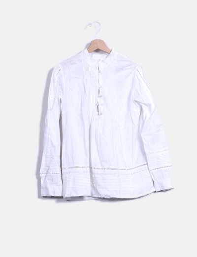 Blusa blanca manga larga Mayoral