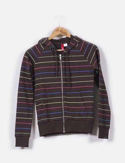 Sudadera de rayas multicolor H&M