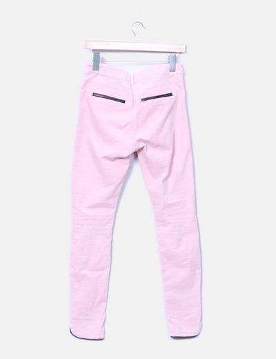 Pantalon micropana rosa palo