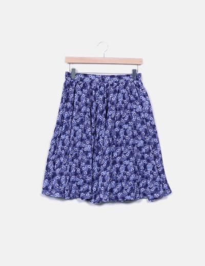 Minifalda floral con vuelo