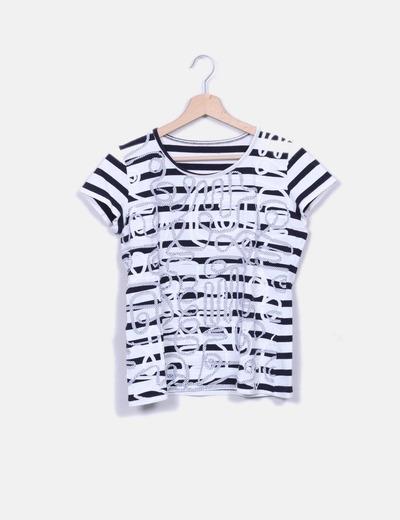 Camiseta de rayas bicolor