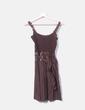Vestido marrón combinado Freesoul