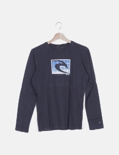 Camiseta negra print
